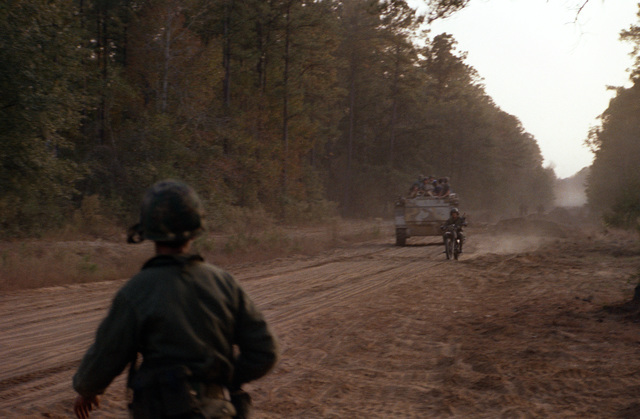 PFC Richard Foster, Co. B, 3rd Bn., 187th Bde., 101st Abn. Div., prepares to defend a bridge against the enemy during the field training exercise Quick Thrust
