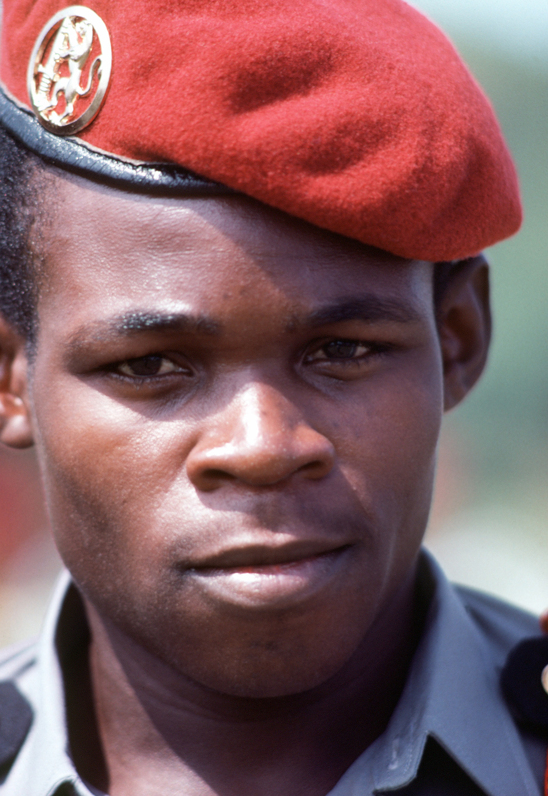 A participant in the Conseil International du Sport Militaire (CISM) poses in his dress uniform during the 31st annual meeting of military athletes from all over the world