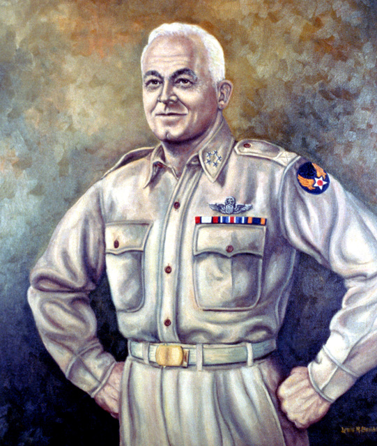 "Artwork: ""General Harry H. ""Hap"" Arnold""- Artist: Louis Behan"