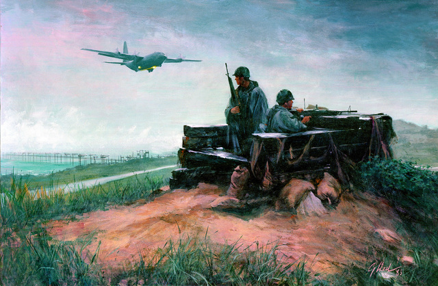 "Artwork: ""The Sentinels,"" Kunsan, South Korea Artist: Guy Deel U.S. Air Force Art Collection"