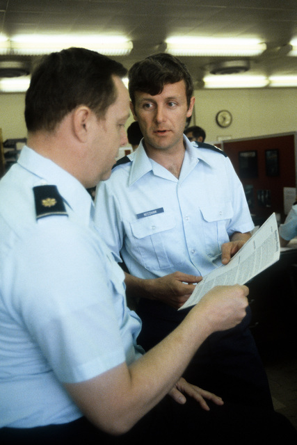 CPT Paul Needham working at the Strategic Air Command headquarters. Neeham is one of the 52 Americans held hostage during the siege at the U.S. Embassy in Tehran, Iran