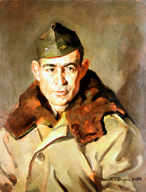 "Artwork: ""CAPT Francis J. McKenna, USN"" Artist: William F. Draper #38"