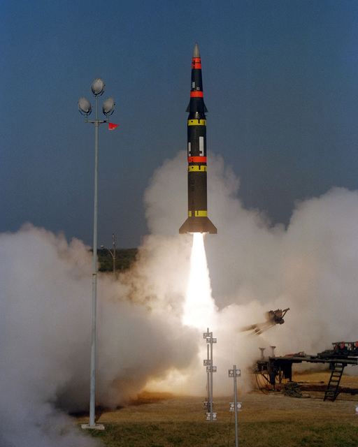 The US Army launches a Pershing II battlefield support missile on a long-range flight down the Eastern Test Range at 10:06 a.m. EST. This is the forth test flight in the Pershing II engineering and development program and the third flight from Cape Canaveral
