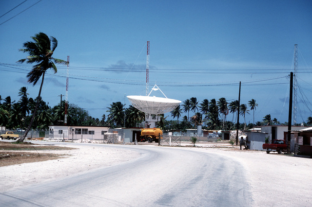 A view of an antenna at the Comsat Earth Station for Satellite Communications