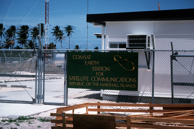 A view of the entrance to the Comsat Earth Station for Satellite Communications