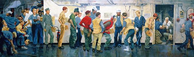 "Artwork: ""Sick Lame and Lazy"" Artist: Charles Waterhouse, 1972-69 U.S. Navy Combat Art Center"