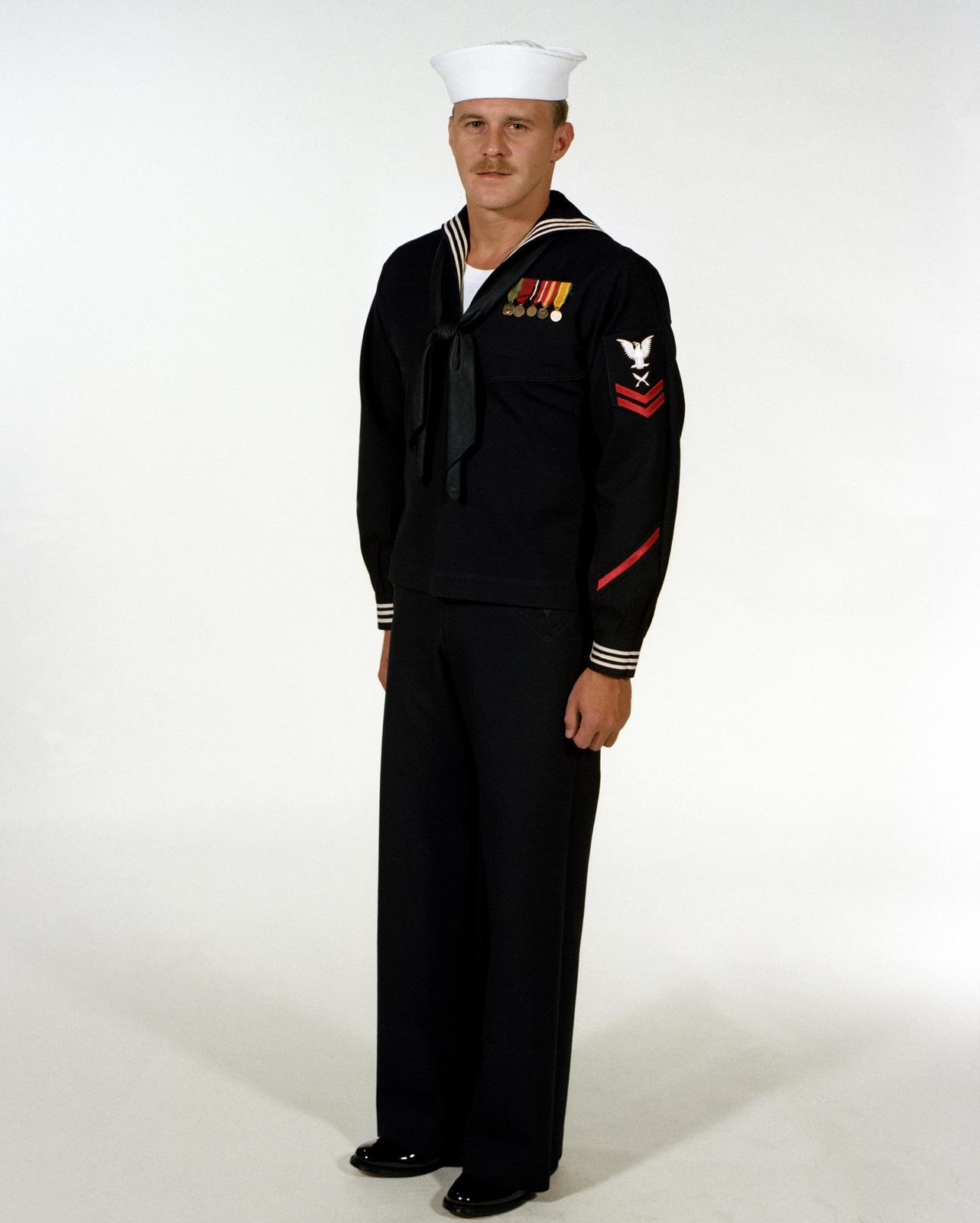 Uniform Dinner Dress Blue Jumper Navy Enlisted Men Ranks E 1