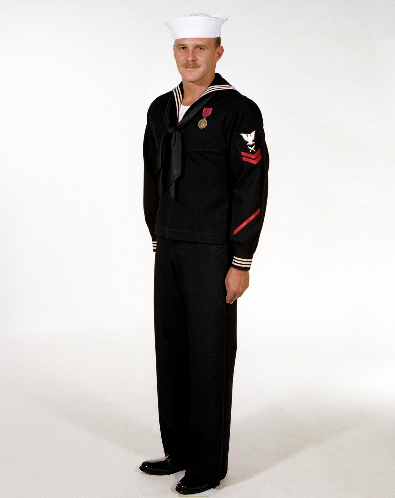 Uniform: Full dress blue jumper, Navy enlisted men, ranks