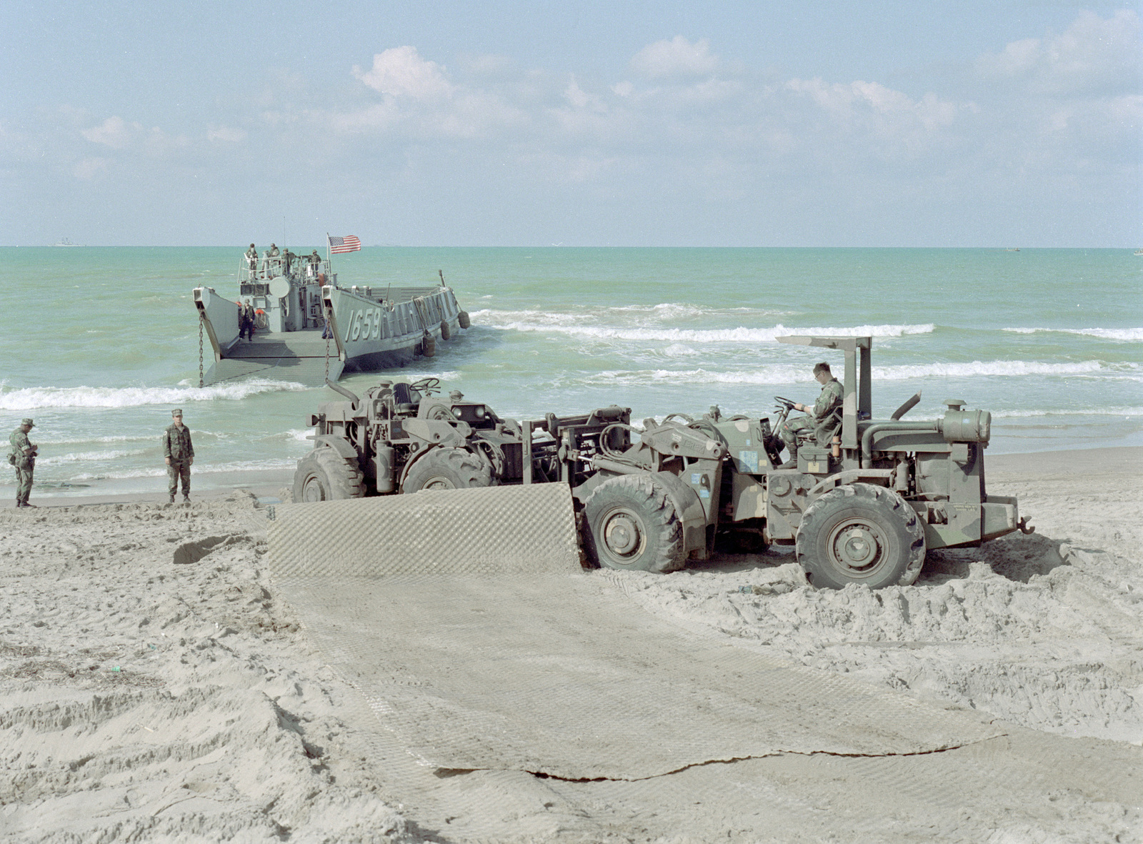 Ground support equipment and matting to be used by the 24th Marine