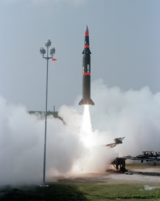 The U.S. Army launches a Pershing II missile on a long-range flight down the Eastern Test Range at 2:55 P.M. EST. This is the eighth test flight in the Pershing II engineering and development program and the fifth flight from the Cape Canaveral Air Force Station