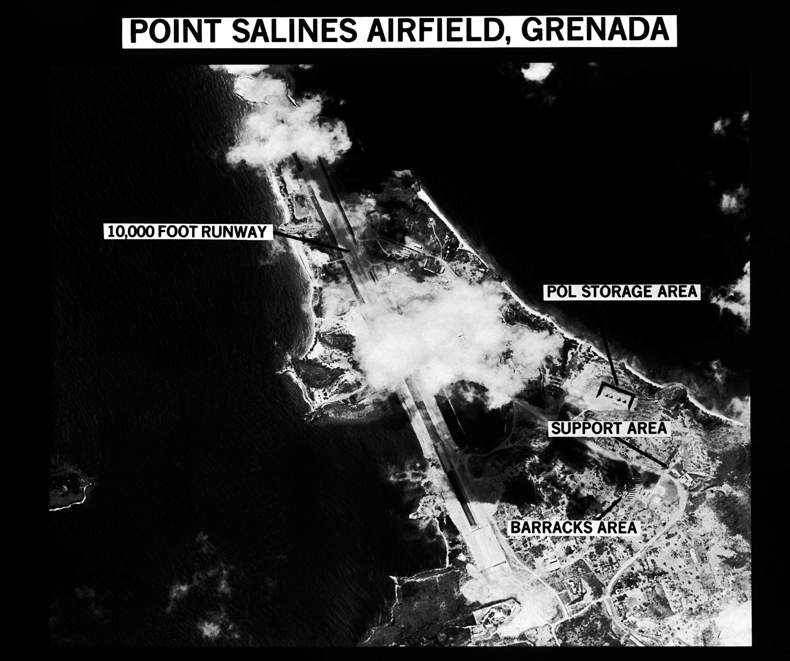 A Map Of Point Salines Airfield  Grenada  With Areas Of