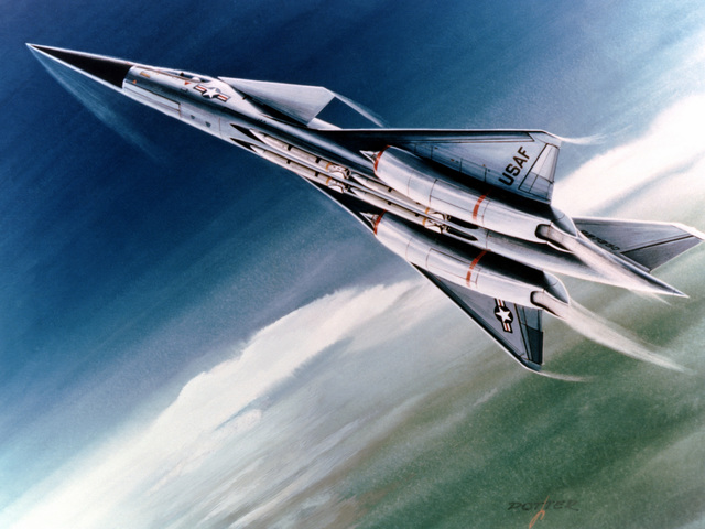 An artist's conception of the Advanced Tactical Fighter (ATF) aircraft