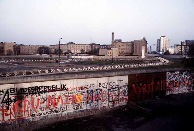 """A view of """"The Wall,"""" which separates communist-controlled East Germany from West Germany"""