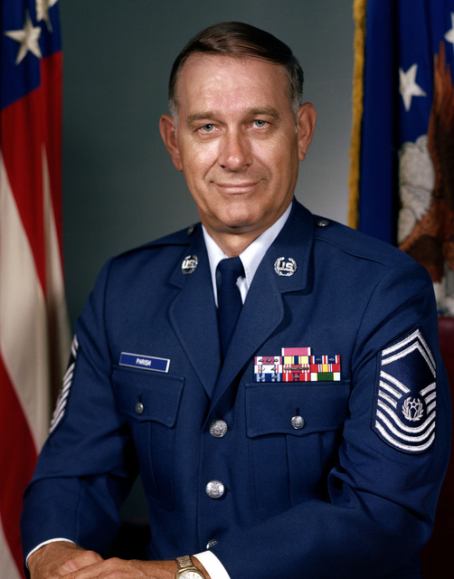 CHIEF MASTER Sergeant of the Air Force Sam E. Parish (uncovered)