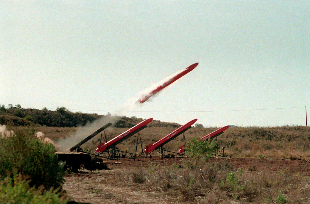 A Ballistic Aerial Target Bat System Missile Is Fired By The 62nd Air Defense