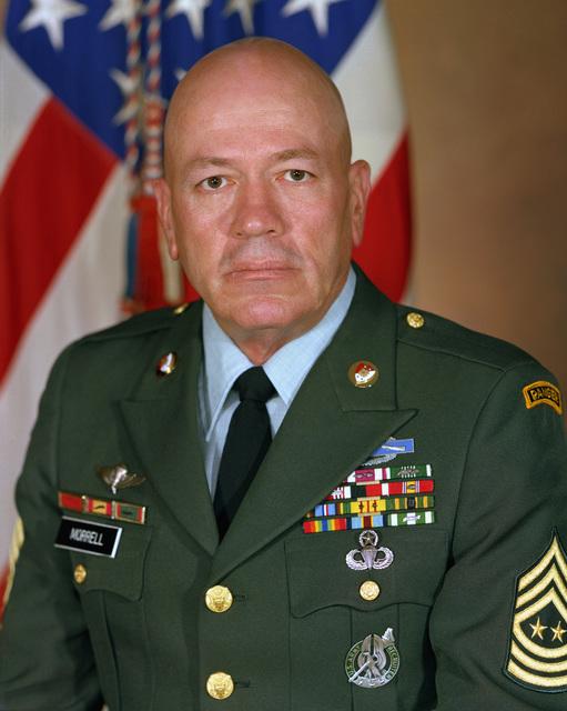 Sergeant Major of the Army (SMA) Glen E. Morrell, USA (uncovered)