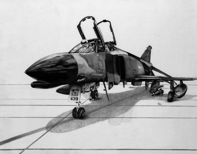 "Artwork: ""F-4 Phantom"" Artist: Denise Lilly"
