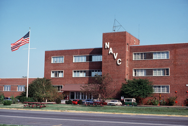 A view of the main entrance to the Naval Audiovisual Center located on the Anacostia Naval Station