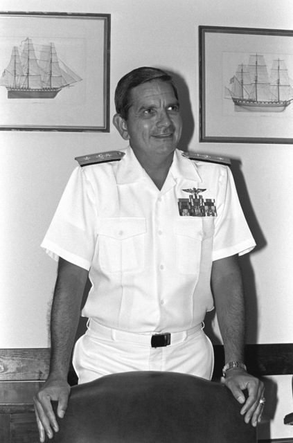 Commodore Diego E. Hernandez, USN (uncovered)