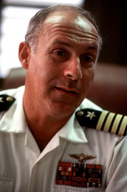 Captain M. D. Fitzgerald, Commander of US Naval Base Guantanamo Bay, explains the base's mission