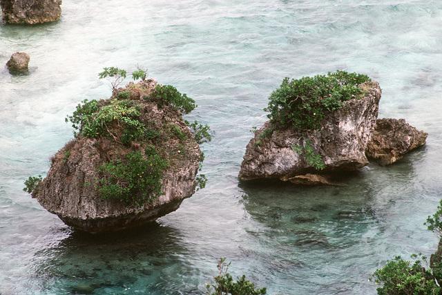 A scenic, rocky coastline along Orote Point