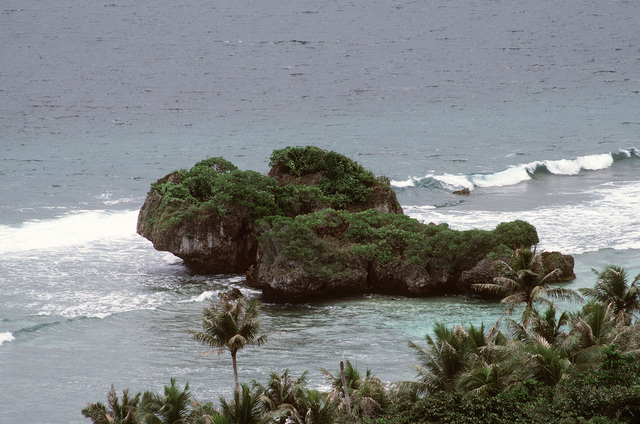 The scenic coastline of Orote Point near Apra Harbor