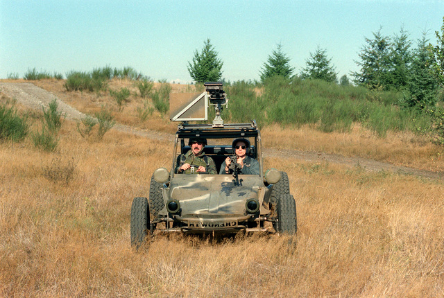 A front view of a fast attack vehicle operated by PFC. Drain Mackley and SGT. Dom Hanover of the 9th Infantry Division