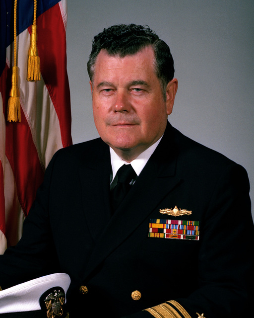 Rear Admiral Wayne E. Meyer, USN (uncovered)