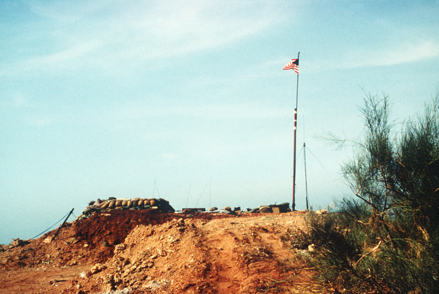 An observation/sniper post of Company B, 1ST Battalion, 8th Regiment, 24th Marine Amphibious Unit