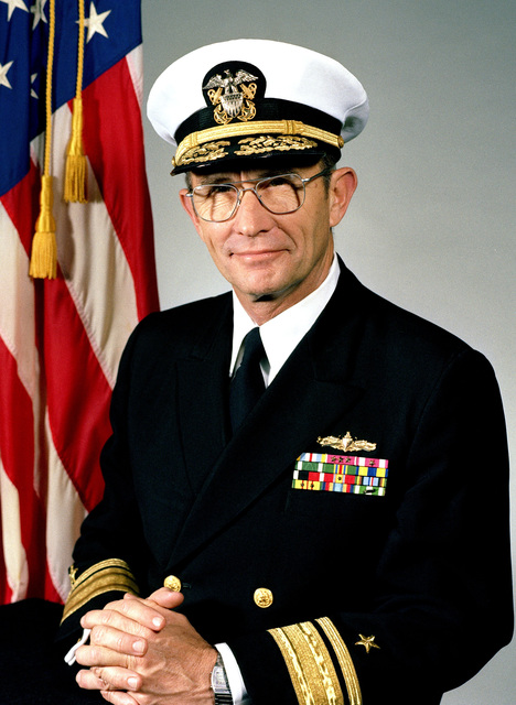 Rear Admiral Peter C. Conrad, USN (covered)