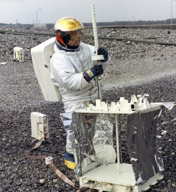 Photograph of Deployment Testing of the Apollo Lunar Surface Experiments Package