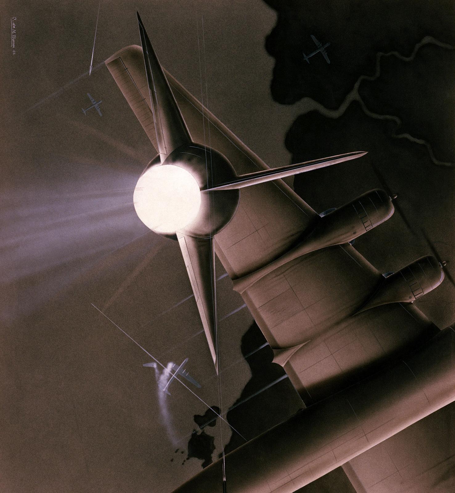 Artwork Air Defense Artist Chuck Barnes Us Air Force Art
