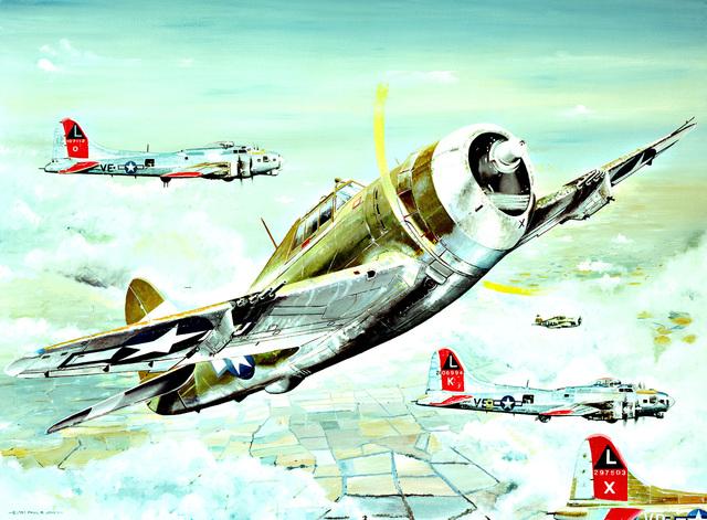 "Artwork: ""Big Friends - Little Friends"" Artist: Paul Jones (US Air Force Art Collection)"