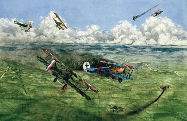 "Artwork: ""Caught Napping"" Artist: Loren Blackburn, US Air Force Art Collection"