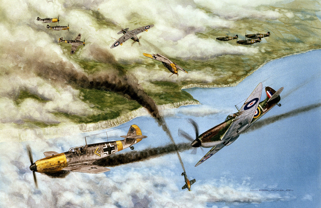 """Artwork: """"Channel Bound"""" Artist: Loren Blackburn, US Air Force Art Collection"""