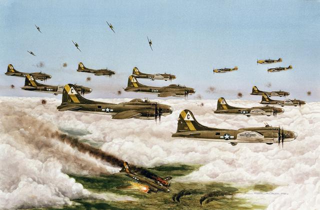 """Artwork: """"Chariots of Fire"""" Artist: Loren Blackburn, US Air Force Art Collection"""