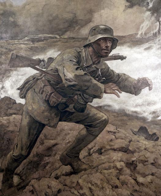 """Artwork: """"Dispatch Courier"""". Artist: Elk Eber. Catalog Number: G.O.1.1339.47. US Army Art Collection"""