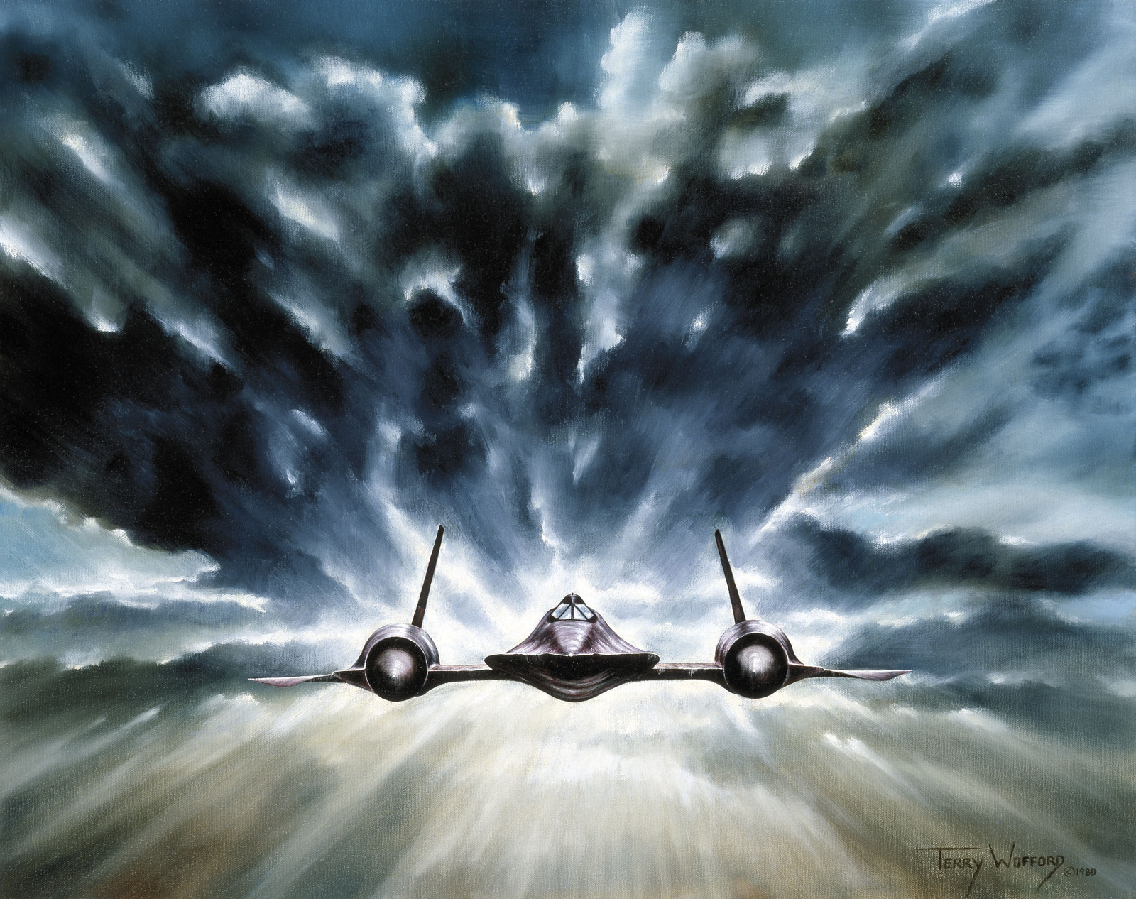 """Artwork: """"Spy"""" Artist: Terry Wofford, US Air Force Art Collection"""