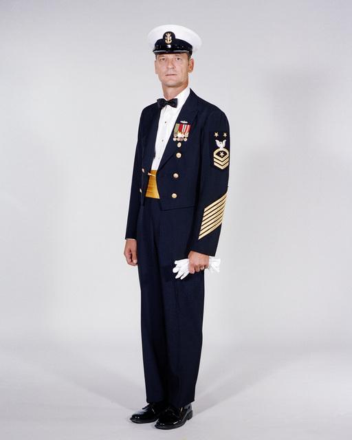 Navy Uniforms: Men's Dinner Dress Blue, CHIEF PETTY Officer. 1984 Uniform Regulations, Page 5-3