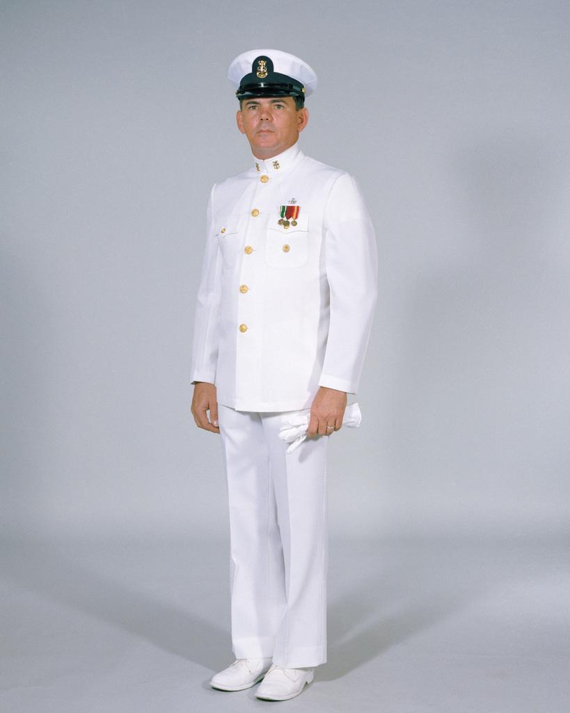 Navy Uniforms: Men's Dinner Dress White, CHIEF PETTY Officer