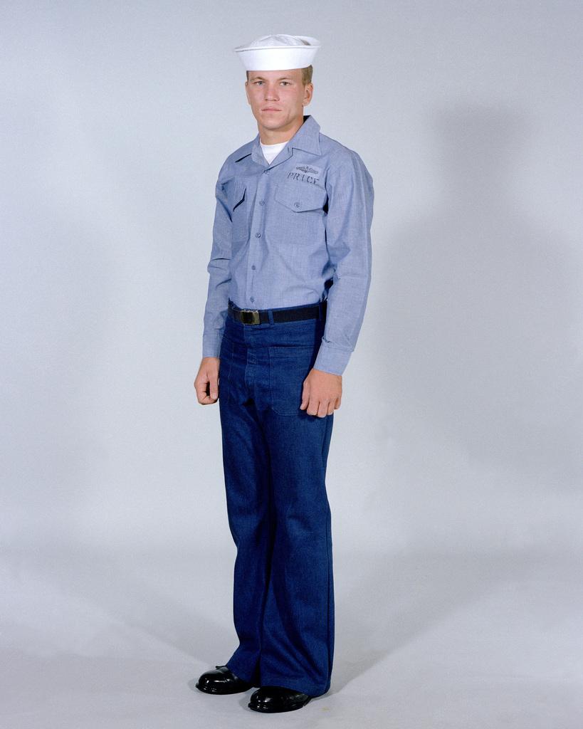 Navy Uniforms: Men's Dungarees  1984 Uniform Regulations