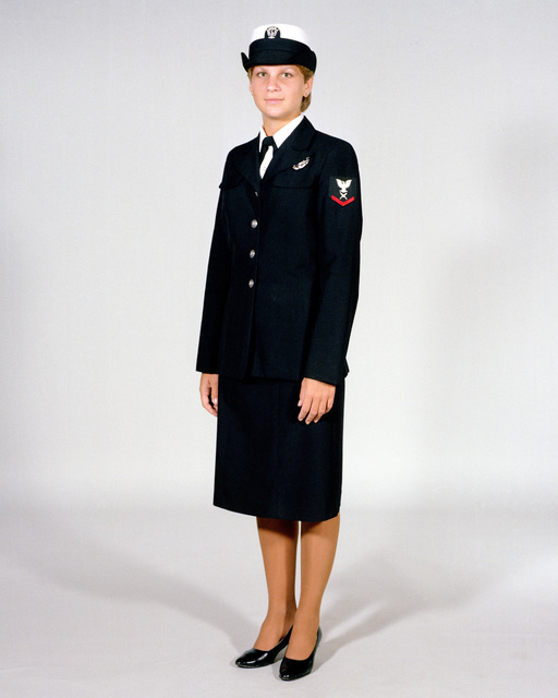 navy uniforms womens dress blue e1 through e6 1984