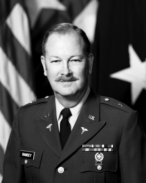 Portrait:  US Army (USA) Brigadier General (BGEN) Frank A. Ramsey (uncovered)