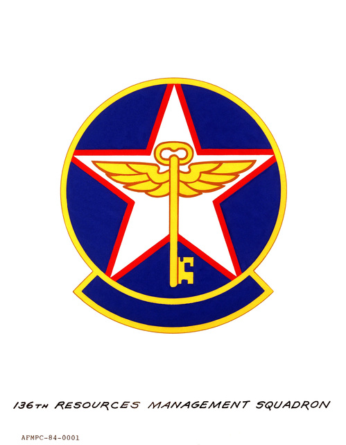 Approved insignia for: 136th Resources Management Squadron