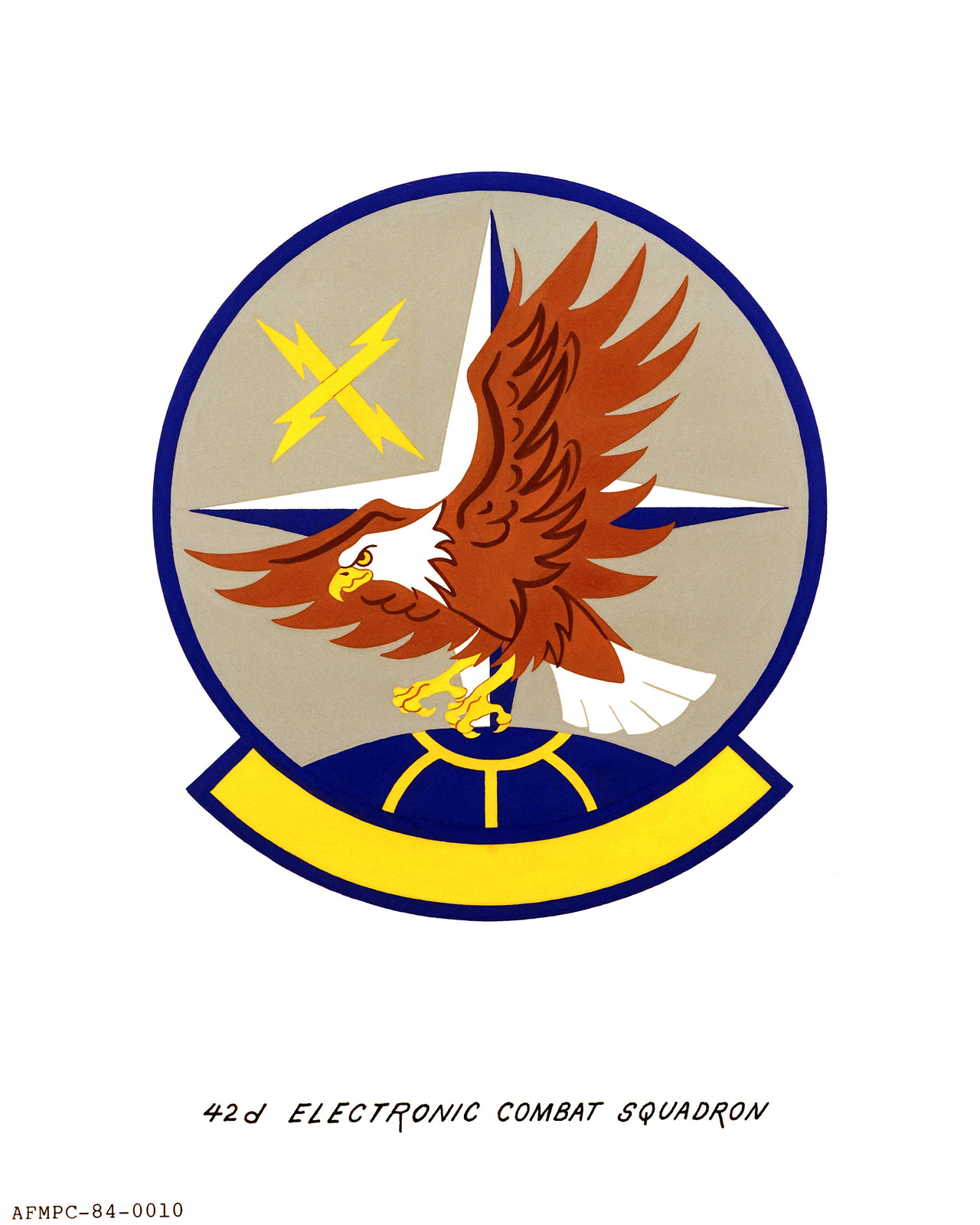 Approved insignia for: 42nd Electronic Combat Squadron