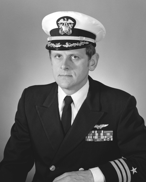 Commander Ralph J. Waterman, USN (covered)