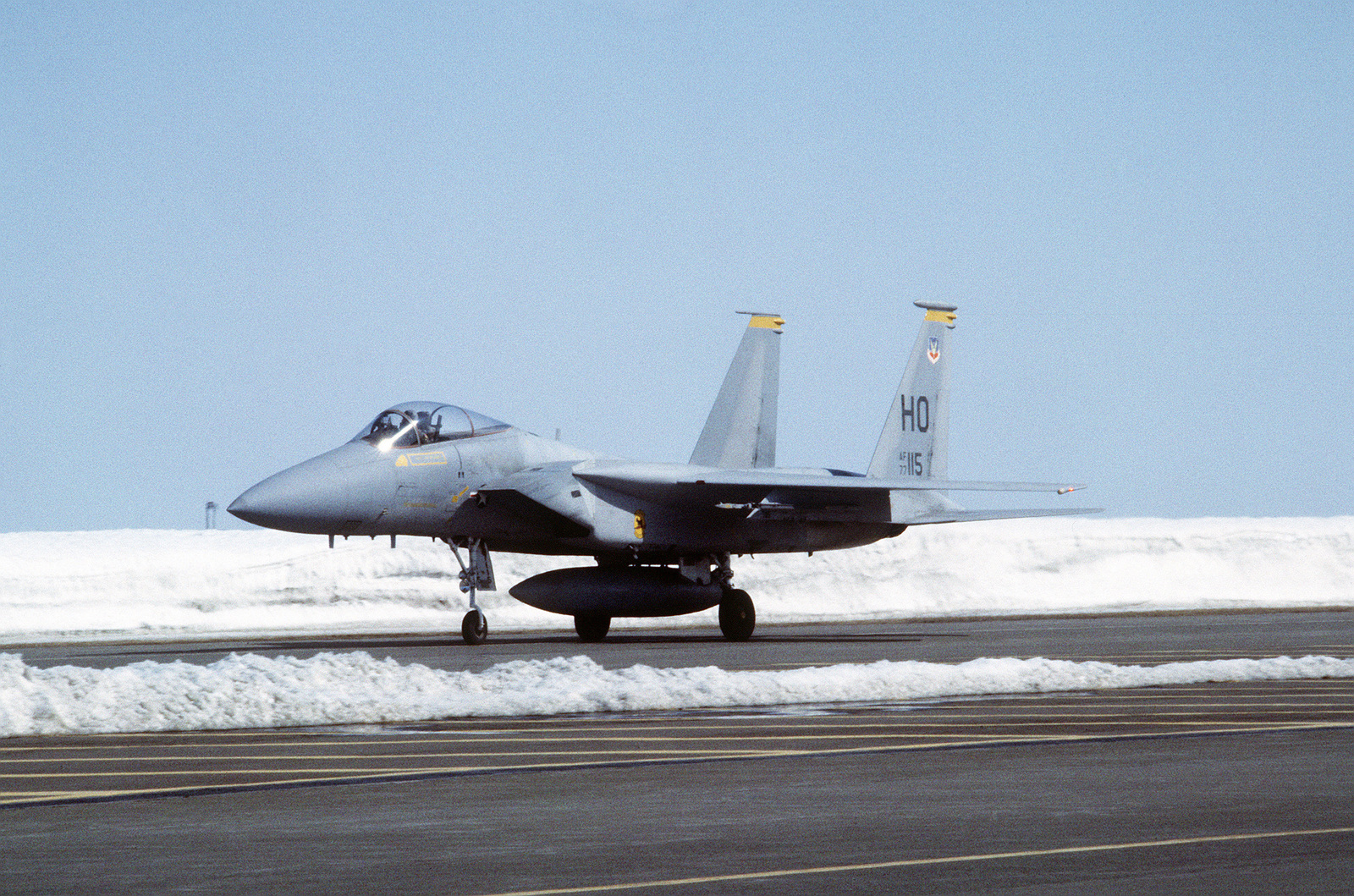 A US Air Force F 15 Eagle Aircraft From The 49th Tactical Fighter Wing
