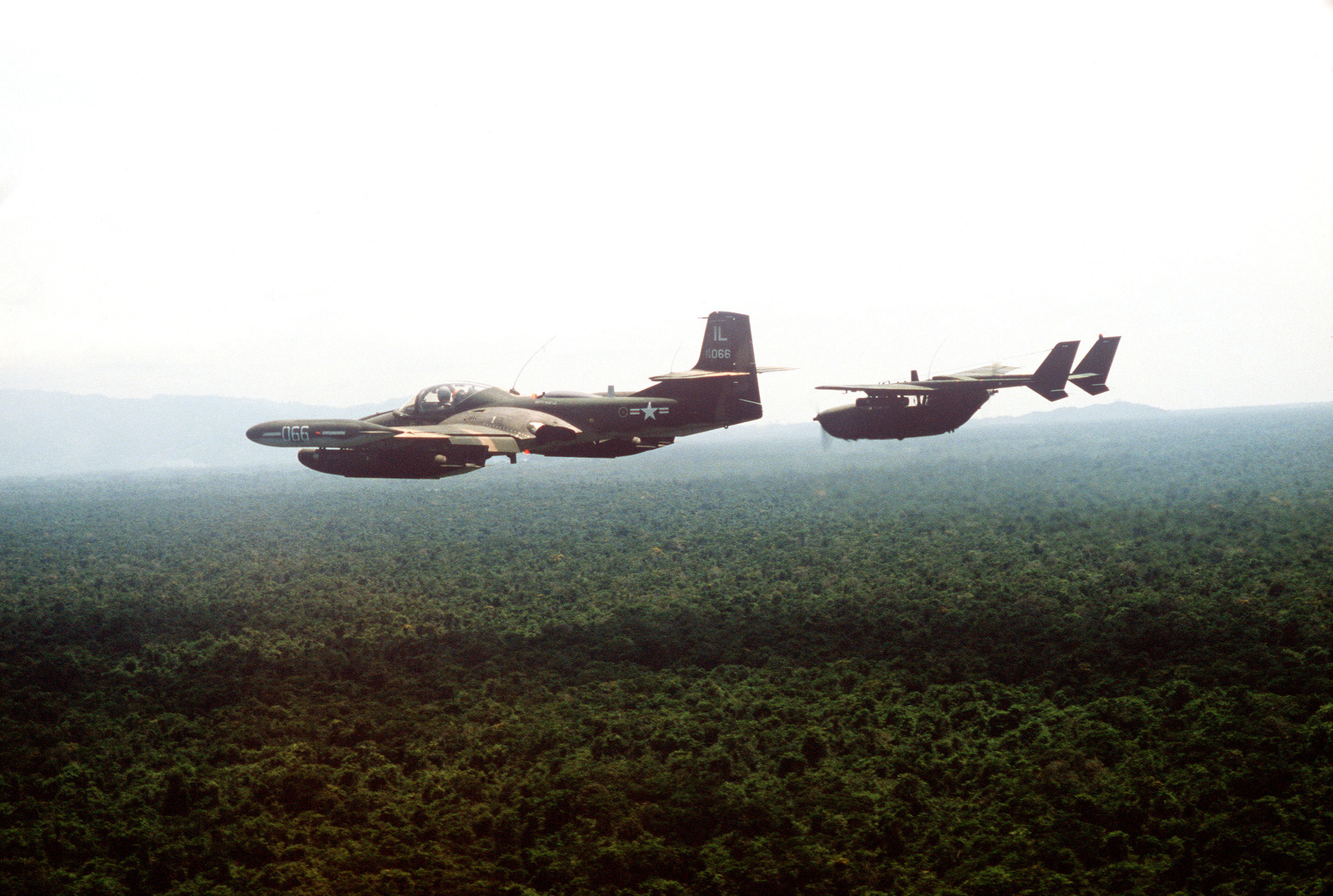 An Air To Left Side View Of OA 37B Dragonfly Aircraft From The 169th Tactical Support Squadron Illinois National Guard And O 2