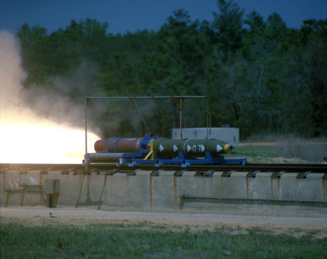 A BLU-109B bomb fuse test