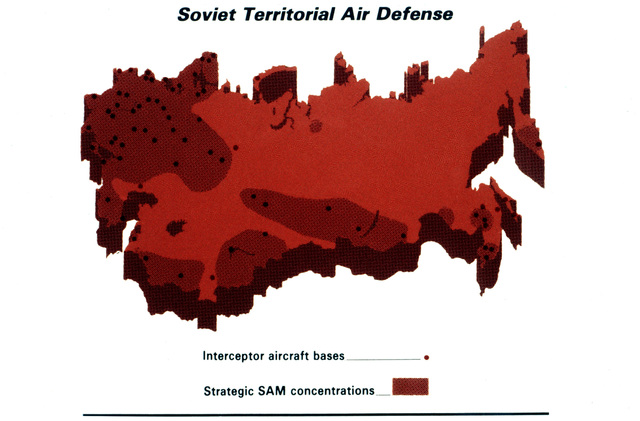 Soviet Territorial Air Defense. Courtesy of Soviet Military Power, 1984. PHOTO No. 32, (Page 36, bottom)